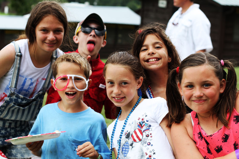 Campers broke out their red, white, and blue for our 4th of July cookout celebration.