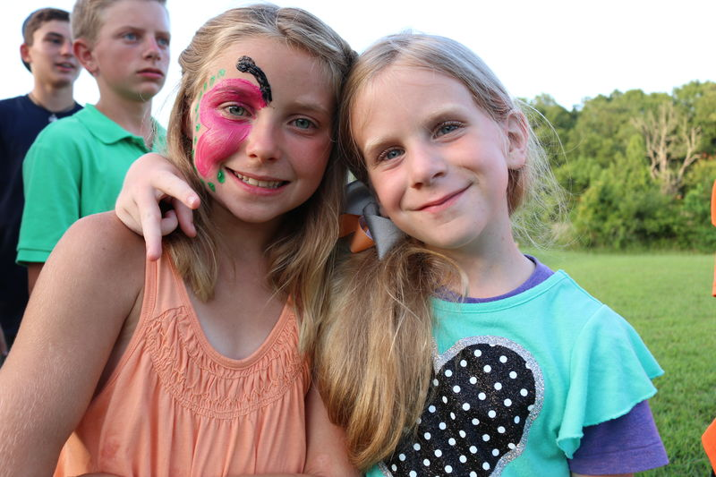 Face painting was a favorite activity at Celebration.