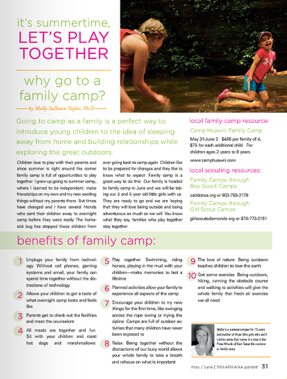 Alum Dr. Molly Taylor shares why her family, from Texarkana, goes to Camp Huawni for family camp.